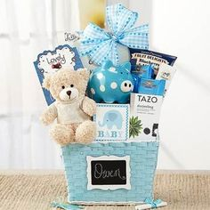 Newborn Basket for Baby Boy.  See more at www.pro-gift-baskets.com!