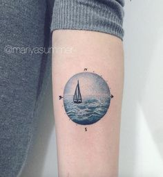 Beautiful dotwork seascape by Mariya Summer