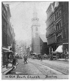 Old South Church in Boston in 1897