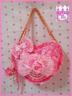 Magic Pearl Heart: DIY Hime Gyaru Heart-Shaped Handbag