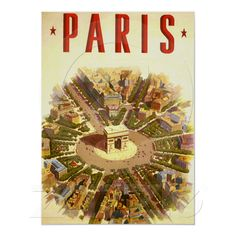 Paris Vintage Arc de triomphe