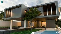3D Max Creative Exterior Vray3.2 ,Photoshop,CameraRaw Light 2016 3d Max, Scale, Villa, Behance, Photoshop, Exterior, Facebook, Mansions, House Styles