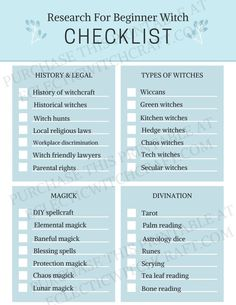 FAIL PROOF to-do list for witches