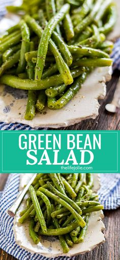 This Green Bean Salad is one of my favorite healthy, simple, Italian summer recipes. It's really quick and easy to throw together and it's served cold so you can make it ahead.