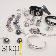 SNAP! jewels are simply A-MA-ZING! It's easy, have some basic accessories, an assortment of snap fasteners selected with care and voilà! You're left with all the fun! Add to that interchangeable pieces for a different look that matches any of your outfits! Change your style in a SNAP! http://www.clubbeadplus.com/products/Snaps