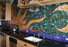 mosaic back splash!