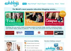 Community -Edublogs – education blogs for teachers, students and schools