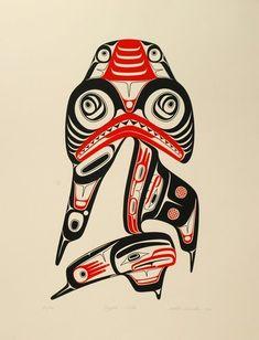 Dogfish Mother (1980) by Robert Davidson, Haida artist (RD1980-01)