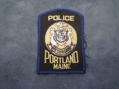 E82  Vintage Police Patch Portland Maine