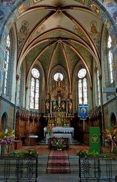 Oggelshausen, busque en la sala del coro y el altar, Aug.2012