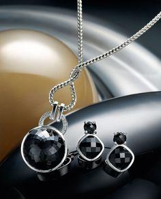 white gold onyx earrings, & white gold onyx and diamond pendant Somerset West, Fine Jewelry, Jewellery, Diamond Pendant, Jewelry Collection, White Gold, Vans, Seasons, Drop Earrings