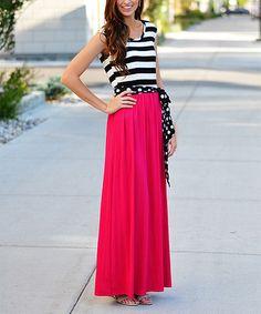 Another great find on #zulily! Fuchsia Stripe & Polka Dot Maxi Dress #zulilyfinds
