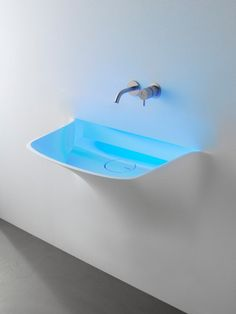 Corian® #washbasin with light SOFFIO by Antonio Lupi Design | #design Domenico De Palo #bathroom