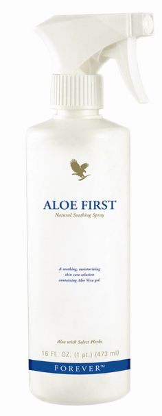 Forever Living - Aloe First. Contains stabilised aloe vera gel, bee propolis, allantoin and 11 exclusive plant extracts to soothe and moisturise the skin. Protects hair from sun and chlorine damage. Ideal for children and even the most sensitive skins. http://www.beforeverfree.myforever.biz/store