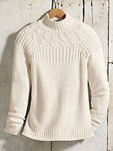 Silk Cotton Mock Neck Sweater | WinterSilks