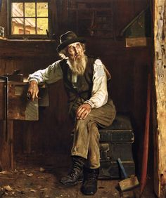 """""""LIVING IN THE PAST"""", by John George Brown, 1897"""