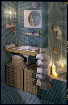 Ikea Bathroom, Room Interior Design, Ikea Furniture, Bathroom Organization, Ikea Hack, Acacia, Sink, House Ideas, Relax