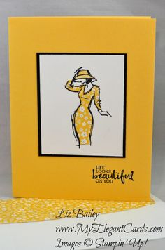 My Elegant Cards - Liz Bailey - Independent Stampin' Up! Demonstrator - Beautiful You - CAS