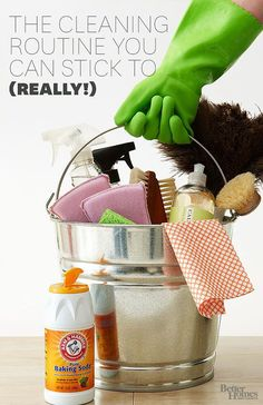 Yes you can! Find an easy to imitate cleaning schedule! Find more ideas here: http://www.bhg.com/homekeeping/house-cleaning/tips/whole-house-cleaning-schedule/?socsrc=bhgpin090314scheduleit&page=1