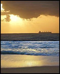 Raincloud above golden Beach uMdhloti - Durban - South Africa
