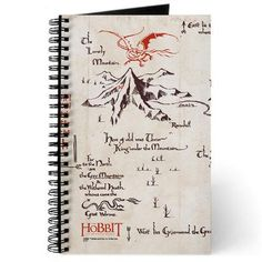 This Middle-earth notebook features Thorin Oakenshield's map to the Lost Kingdom of Erebor. This blank lined notebook is great for…