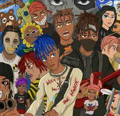 #LLJ Anime Wallpaper Phone, Rap Wallpaper, Cartoon Wallpaper, Anime Rapper, Rapper Art, Dope Cartoons, Dope Cartoon Art, Arte Hip Hop, Hip Hop Art