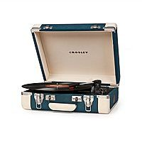 Crosley Executive Draagbare Platenspeler - Blue/Cream