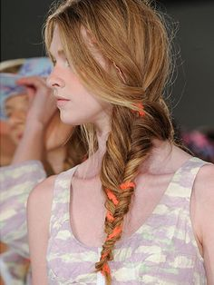 Spring 2014 Braids Hair Trend - New York Fashion Week Spring 2014 Hair Trends - Real Beauty Cool Hairstyles For Girls, Summer Hairstyles, Pretty Hairstyles, Girl Hairstyles, Christmas Hairstyles, Wedding Hairstyles, Hair Styles 2014, Medium Hair Styles, Long Hair Styles