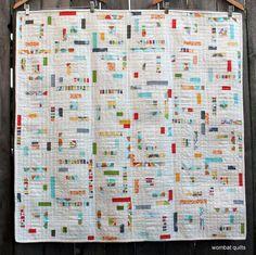modern log cabin quilt