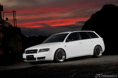 Matte white wrapped Audi A4 B6 http://shop.eteippi.fi/ #quattro