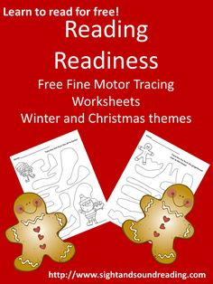 Free worksheets to help your child with reading readiness!  Christmas themed...  have your child trace the lines with a highlighter, pencil, crayon or all 3!