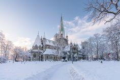 Nidarosdomen Winter - Nidaros Cathedral at winter here in Trondheim, Norway.