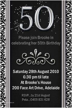 Example Birthday Invitations Flower Patern Silver Gold Black Color Cute And Interesting For Garden Parties Peer