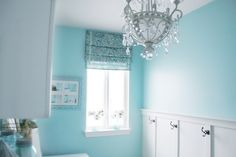 House of Turquoise: Cameras and Chaos Laundry Room Laundry Room Colors, Blue Laundry Rooms, Small Laundry, Le Cosy, Utility Room Designs, Laundry Room Inspiration, House Of Turquoise, Sink Design, Room Doors