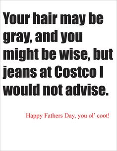 Costco Fathers Day Card. Greeting Card. Humor card for fathers day. funny and slightly crass greeting card from child