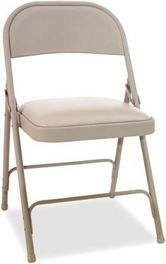 Alera Steel Folding Chair with Padded Seat, Tan, 4/Carton Alera http://www.amazon.com/dp/B001MS6PZS/ref=cm_sw_r_pi_dp_N.hawb1A52GF6