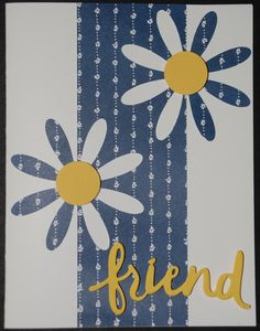 Stampin' Up! Delightful Daisy Suite - Daisy Delight Stamp Set, Daisy Punch, Lovely Words Thinlits Dies - Daffodil Delight, Delightful Daisy DSP - See my website for measurements