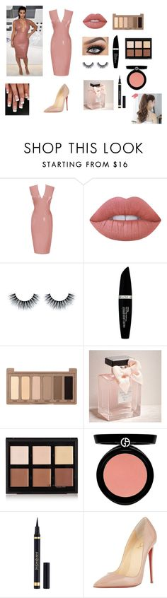 """""""kim kardashian west look"""" by sarah4ever123 ❤ liked on Polyvore featuring Atsuko Kudo, Lime Crime, Max Factor, Urban Decay, Abercrombie & Fitch, Anastasia Beverly Hills, Armani Beauty, Christian Louboutin and Pin Show"""