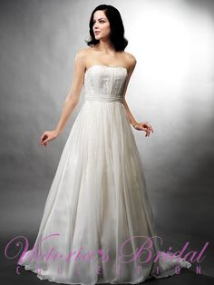 http://www.jalisbridal.com/wedding/vb-3188.html ... Zipper Back made of Chiffon French Satin and Applied Beading $765