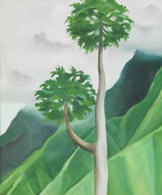 Painting by Georgia O'Keeffe from a trip with Ansel Adams.   Hawaii