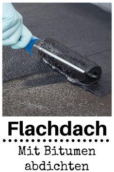 Flachdach abdichten A flat roof you can easily seal yourself – with compounds of polymer bitumen! Diy Garage Storage, Garage Organization, Carport Modern, Roof Decoration, Decorations, Shelving Design, Garage Apartments, Cozy Kitchen, Garage Design