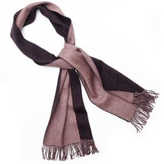 Deep plum & powder pink combo in super soft baby alpaca wool, makes this fair-trade scarf a must have to keep you warm & stylish this season. A classic scarf with a conscience.