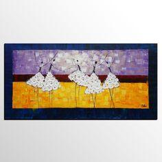 Canvas Painting, Original Wall Art, Ballet Dancer Painting, Abstract Art, Canvas Art, Wall Art, Original Artwork, Original Painting 264