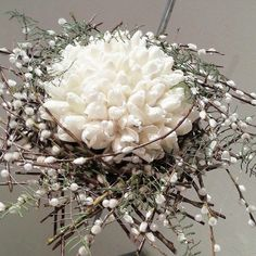 Pussy willow bouquet. Via Fusion Flowers magazine