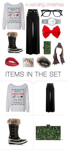"""""""A wizarding christmas"""" by lyndsey-lewis28 ❤ liked on Polyvore featuring art"""