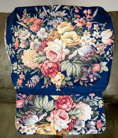 Vintage Cotton Chintz Fabric Remnant Roses by VintageClothesNJunk