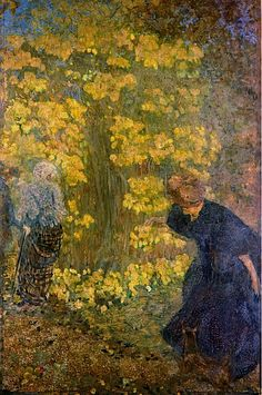 ⊰ Posing with Posies ⊱ paintings of women and flowers - Edouard Vuillard (1868-1940)  Les Lilas