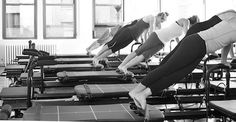 """Introducing the Megaformer, which our blogger likes to call """"a Pilates reformer on steroids."""" She says """"My body's transforming, and I think my mind is, too."""""""