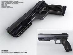 N.o.m.a.d - handgun concept by peterku.deviantart.com on @DeviantArt