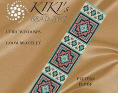 Bead loom pattern Braid geometric LOOM bracelet pattern in Loom Bracelet Patterns, Bead Loom Bracelets, Bead Loom Patterns, Jewelry Patterns, Beading Patterns, Stitch Patterns, Beading Techniques, Tear, Loom Weaving